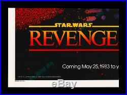 Star Wars REVENGE OF THE JEDI Movie Poster C-10 PERFECT MINT FOR FUSSY FANATICS