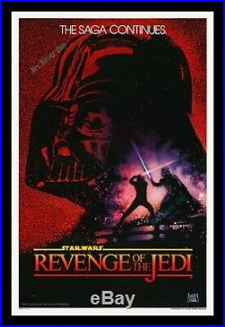 Star Wars REVENGE OF THE JEDI No-DATE GENUINE MOVIE POSTER ROLLED UNBACKED