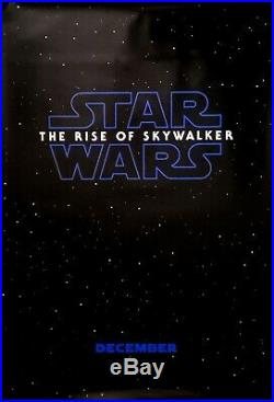Star Wars RISE OF SKYWALKER Double Sided DS Advance Theater 27x40 Movie Poster