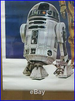 Star Wars ROBOTS the Movie 1977 R2D2 3Po Vintage Poster Inv#G4499