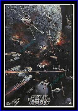 Star Wars ROLLED NEVER-FOLDED! 1977 BERKEY IN STORE Movie Poster Display