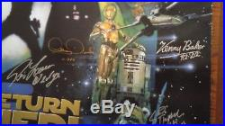 Star Wars ROTJ Poster SIGNED by 15 Hamill, Baker, Prowse, Etc. JSA & Topps COA