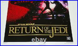 Star Wars ROTJ US One Sheet 10th Anniversary Gold Foil SS Movie Poster 1993