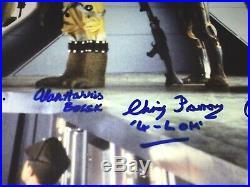Star Wars Rare Cast Signed Poster Bounty Hunters Dave Prowse Darth Vader JSA COA