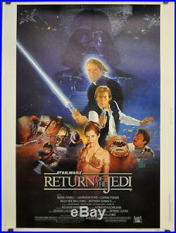 Star Wars Return Of The Jedi 1983 Orig. 30x40 Style B Movie Poster Harrison Ford