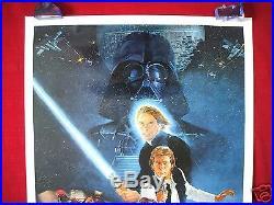 Star Wars Return Of The Jedi 1983 Original Movie Poster 1sh Style B Rotj Nm-m