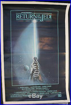Star Wars Return Of The Jedi Original 1-sheet -1983 Light Saber Folded (C-7)