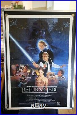 Star Wars Return Of The Jedi Original Original Vintage Movie Poster 27x41 1983