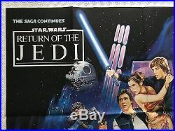 Star Wars Return Of The Jedi Original Printers Proof Quad Poster 1983 Kirby Art