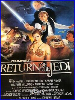 Star Wars Return of the Jedi (1983) Movie Poster Style B 27 x 41 Original