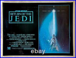 Star Wars Return of the Jedi 1983 US Half Sheet Movie Poster Hamill Ford Fisher