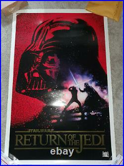 Star Wars Return of the Jedi Movie Poster 10th An GOLD FOIL Kilian 1993 ROLLED