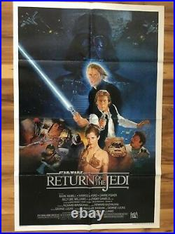 Star Wars Return of the Jedi Style B One Sheet 27 X 41 1983 Movie Poster UNUSED