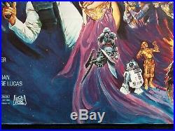 Star Wars Return of the Jedi UK Quad Original Rolled Movie Poster 27x40 Rare