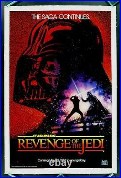 Star Wars Revenge Of The Jedi One Sheet Teaser Poster Rare Exclnt 27x41UNOPENED