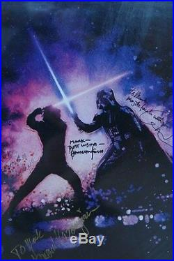 Star Wars Revenge Of The Jedi Poster Orignal 1983 Auto Signed By Marquand
