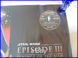 Star Wars Revenge Of The Sith Episode III 3 Original Cinema Quad Poster Rolled