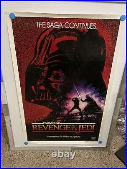 Star Wars Revenge of the Jedi rolled one sheet 100% Authentic
