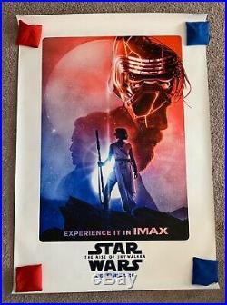 Star Wars Rise Of Skywalker IMAX Bus Shelter Movie Poster HUGE 4 X 6 DS