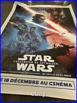 Star Wars Rise of Skywalker 4x6 Original French bus shelter poster BEAUTIFUL