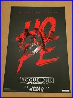 Star Wars Rogue One 13x19 El Capitan Theater Hope Poster/print Limited #/1500