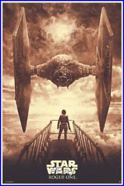 Star Wars Rogue One Showdown Red Variant Karl Fitzgerald Movie Poster Mondo Art