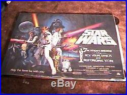 Star Wars Rolled Academy Awards B Quad Movie Poster'77