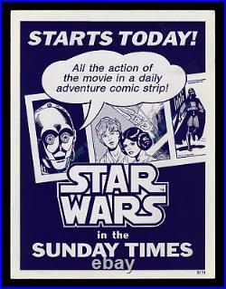 Star Wars SUNDAY TIMES COMIC STRIP MOVIE POSTER 1979 ADVERTISING DISPLAY CARD