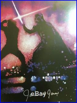 Star Wars Signed 27x40 ROTJ Poster. Hamill, James Earl Jones, Prowse. Topps Cert
