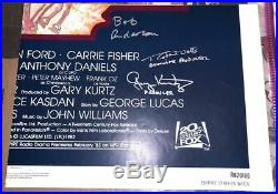 Star Wars Signed FULL Cast Poster Ford Fisher Hamill Lucas JEJ Oz +12 Autographs