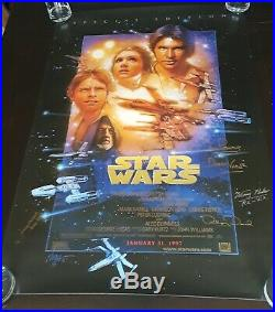 Star Wars Special Edition AUTHENTIC SIGNED AUTOGRAPH POSTER cast signature jedi
