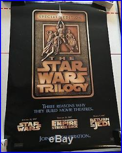 Star Wars Special Edition Trilogy 1997 Ds Movie Poster 27x40