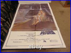 Star Wars Style A 1977 Mark Hamill Harrison Ford Orig 1-sheet Poster N7027
