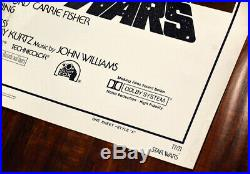 Star Wars Style A NSS 77/21 Original One-Sheet Folded Movie Poster 27X41 1977