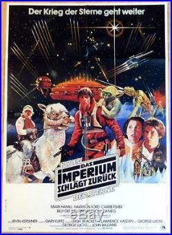 Star Wars THE EMPIRE STIKES BACK original german 1 sheet movie poster 1980