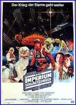 Star Wars THE EMPIRE STIKES BACK original german 1 sheet movie poster R1984