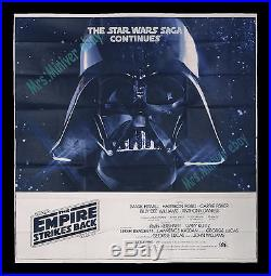 Star Wars THE EMPIRE STRIKES BACK 1980 6-SHEET MOVIE POSTER SPECTACULAR! MINT