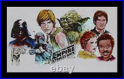Star Wars THE EMPIRE STRIKES BACK 1980 MOVIE POSTER & DIXIE CUP RARE STATIONARY