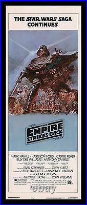 Star Wars THE EMPIRE STRIKES BACK 1980 STYLE B 14x36 INSERT MOVIE POSTER DISPLAY