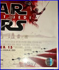 Star Wars THE LAST JEDI Signed Movie Poster Autograph 12 Cast Ford, Ridley, lucas