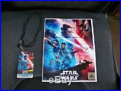 Star Wars THE RISE OF SKYWALKER signed Premiere Poster, COA