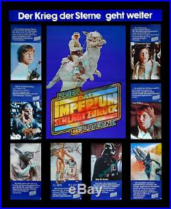 Star Wars The Empire Strikes Back 10-piece German Movie Poster Premiere Set