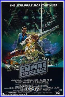 Star Wars The Empire Strikes Back 1980 Movie Poster Film Canvas Wall Art Print