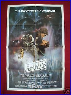 Star Wars The Empire Strikes Back 1980 Original Movie Poster 1sh Style A Nm-m
