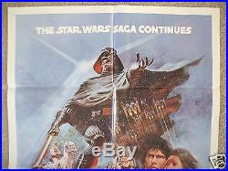 Star Wars The Empire Strikes Back 1980 Original Movie Poster 1sh Style B Nm-m