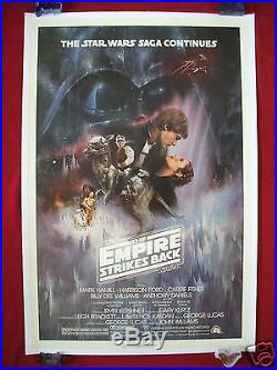 Star Wars The Empire Strikes Back 1980 Original Movie Poster Linen Backed Gwtw