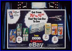 Star Wars The Empire Strikes Back Dixie & Lipton Store Display Movie Poster