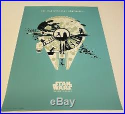 Star Wars The Empire Strikes Back Movie Art Print Poster Mondo Matt Ferguson