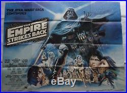 Star Wars, The Empire Strikes Back, Original 1980 British Quad Movie Film Poster