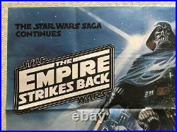 Star Wars The Empire Strikes Back Original Quad Poster 1980 Tom Jung Art